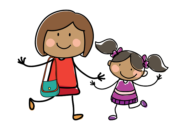 Drawing of a Mum and daughter