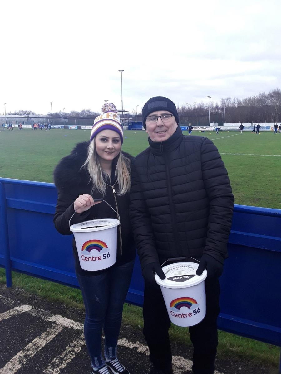 Simona Malarova and Neil McEwen braving the cold to raise money for Centre 56